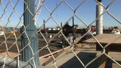 Steel workers, new construction Stock Footage