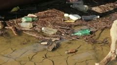 Plastic Bottles Pollution Stock Footage