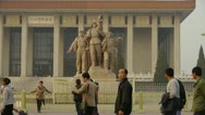 Stock Video Footage of china beijing revolutionary martyrs memorial sculpture,communism.