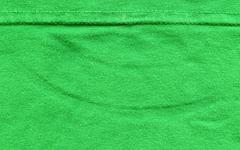 Cotton fabric texture - bright green with seams Stock Illustration
