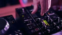DJ tunes sound at a party Stock Footage