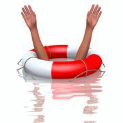 Pelastus poiju ja hukkumisen kädet Piirros