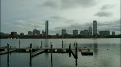 Boat Slips Charles River Boston Stock Footage