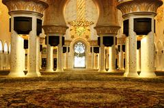 hiekh zayed mosque, abu dhabi - stock photo