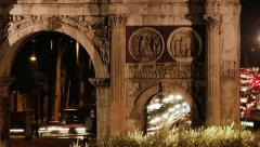 Traffic in Rome large zoom Stock Footage