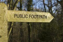 Public footpath Stock Photos