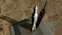 Animation of rocket launch close-up - stock footage