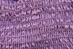 high resolution close up of squiggly pink cotton fabric..scanned at 2400dpi u - stock photo