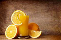 Stock Photo of fresh orange juice