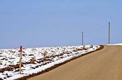 Way in wintertime Stock Photos