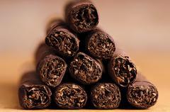 Stock Photo of close up cigarillos
