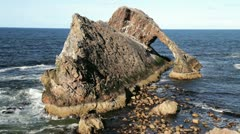 Bow Fiddle Rock, Portknockie, Scotland Stock Footage