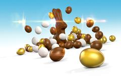Easter Eggs 1 - stock illustration