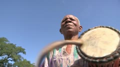 Burkina Faso: Beating A Drum Stock Footage