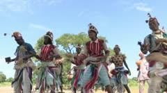 Burkina Faso: African Folk Dancers Stock Footage