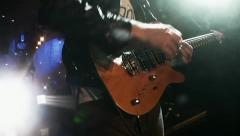 Rock guitarist at live concert - stock footage