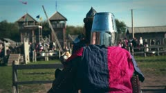 Medieval Knights Fight 02 Stock Footage