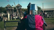 Stock Video Footage of Medieval Knights Fight 02