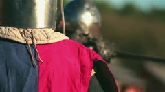 Medieval Knights Fight 01 Stock Footage