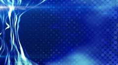 Blue energy light beam flowing loop Stock Footage