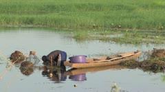 Burkina Faso: Checking the Fish Traps Stock Footage