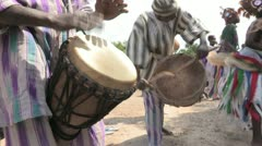 Burkina Faso: African Drums Stock Footage