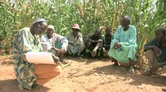 Burkina Faso: Agricultural Instruction Stock Footage