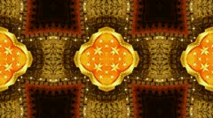 Beautiful Asia Chinese Oriental traditional pattern.four consecutive fractal. Stock Footage