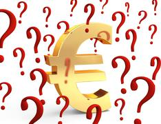 euro in question - stock illustration