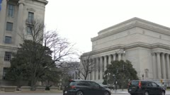 US National Archives Building Stock Footage