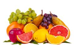 colorful group of fruits - stock photo