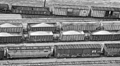 Stock Photo of freight trains