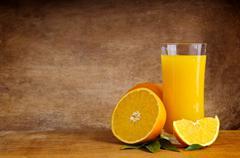 Orange juice Stock Photos