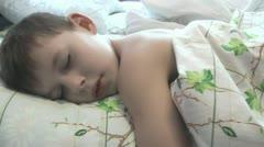 Baby sleeps in a serene atmosphere, Stock Footage