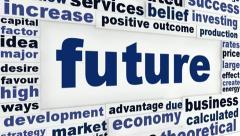 Future creative words concept Stock Footage