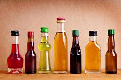 Bottles of alcohol Stock Photos