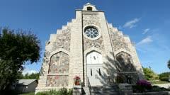 BEAUTIFUL CHURCH EXTERIOR, DOOR COUNTY, WISCONSIN Stock Footage