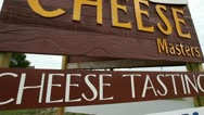 Stock Video Footage of CHEESE SIGN - DOOR COUNTY WISCONSIN