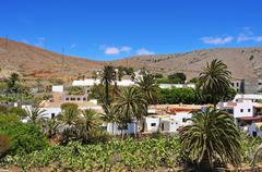 view of betancuria fuerteventura, canary islands, spain - stock photo