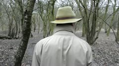 Walking through the woods Stock Footage