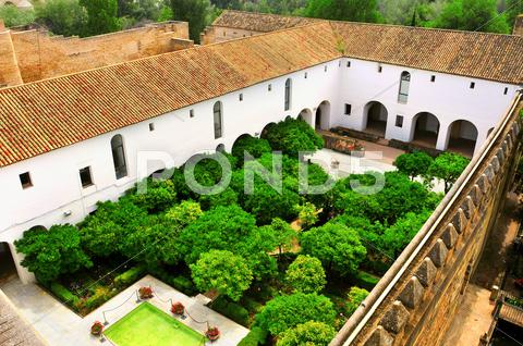 Stock photo of alcazar de los reyes cristianos in cordoba, spain