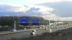 Motorway traffic Stock Footage