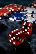 Dice game play freetime gambler player gamble Stock Photos