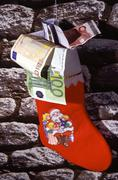 geld christmas xmas december season money euro - stock photo