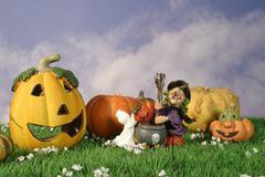 Party design logo pattern halloween pumpkin 31 Stock Photos