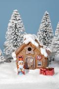 Christmas house winter chocolate home xmas snow Stock Photos