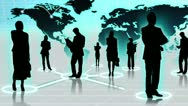 3D Images People Connecting Global Social Business Networking Sites Stock Footage