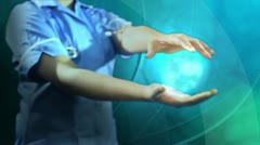 3D Montage Digital Graphic 3D Global Health Study - stock footage