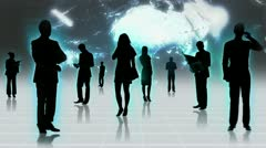 3D Images Professional People Using Business Networking - stock footage