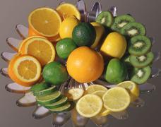 Design fruit beauty decoration for cocktails Stock Photos